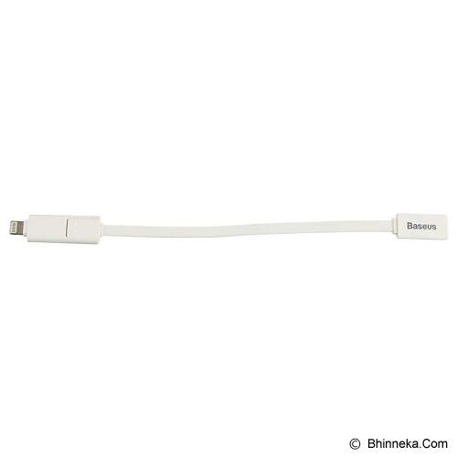 BASEUS Dual-port Series Cable 20CM [CAMCAPIH6-02] - White - Cable / Connector Usb